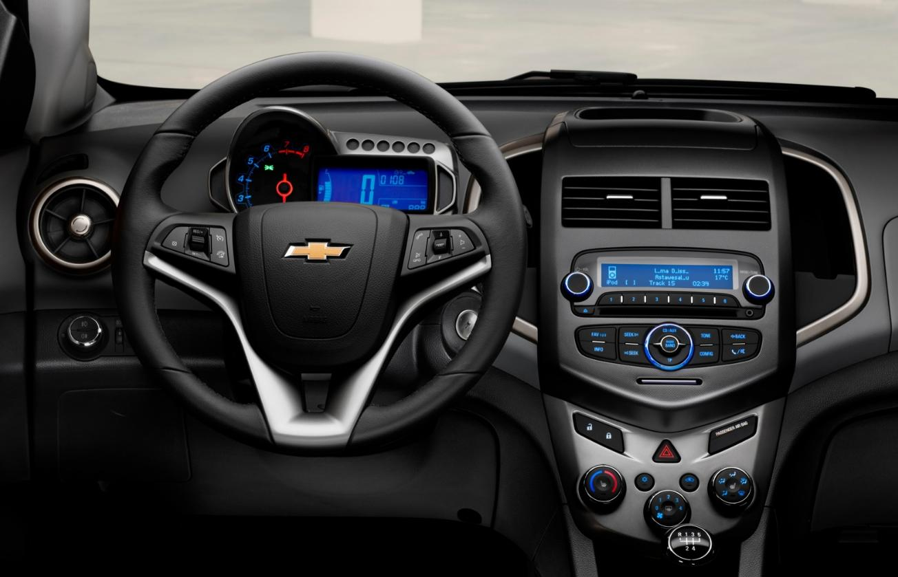 interior Chevrolet Aveo1.2 rent a car Ibiza
