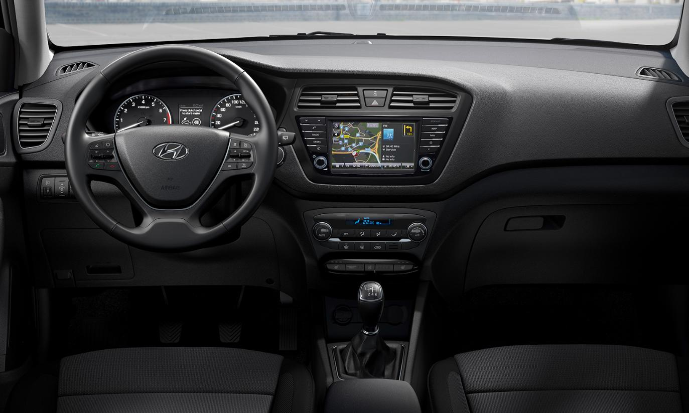 Interior hyundai i20 rent a car Ibiza