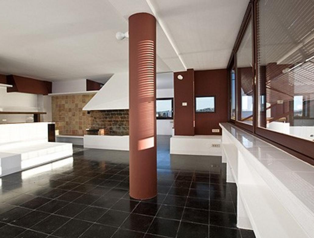Interior de la  casa Broner en Ibiza