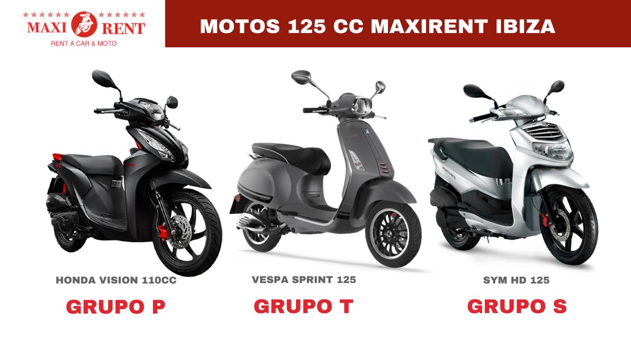 comparativa motos alquiler moto Ibiza